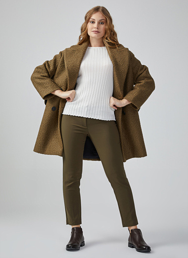 Gusto Kadın Gri Sihirli  Pantolon 20KG009101 Haki